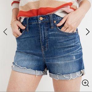Madewell High-rise Denim Shorts Cutoff Edition